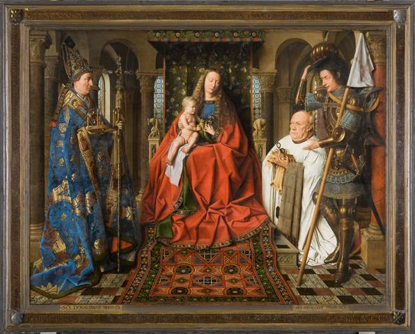 Van der Paele Virgin by Jan van Eyck